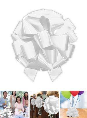 Large White Gift Bow
