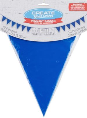 Create Your Own Royal Blue Pennant Banner