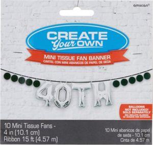 Mini Create Your Own Black Paper Fan Banner