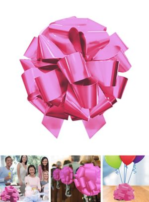 Large Pink Gift Bow