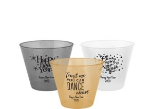 Personalized New Year's Hard Plastic Color Cups 9oz