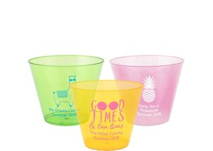 Personalized Summer Hard Plastic Color Cups 9oz