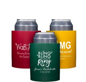 Personalized Wedding Can Coozies
