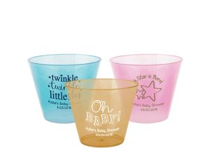 Personalized Baby Hard Plastic Color Cups 9oz