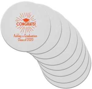 Personalized Graduation 80pt Round Coasters