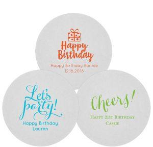 Personalized Milestone Birthday 80pt Round Coasters