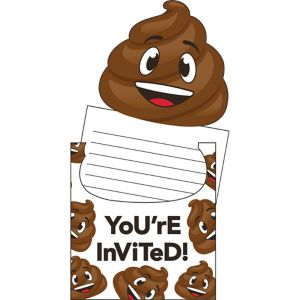 Poop Icon Invitations 8ct