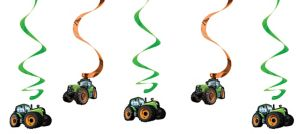 Tractor Swirl Decorations 5ct