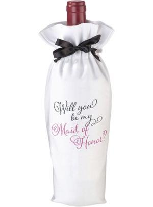 Maid of Honor Wine Bag