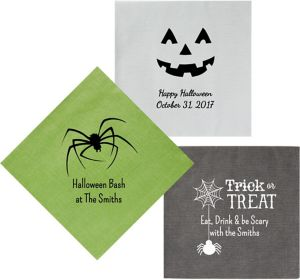 Personalized Halloween Bella Dinner Napkins