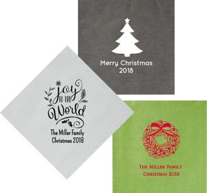 Personalized Christmas Bella Dinner Napkins