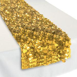 Metallic Gold Floral Table Runner