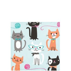 Purrfect Cat Beverage Napkins 16ct