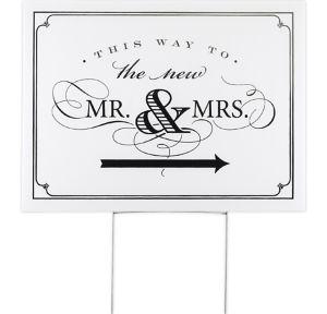 Newlyweds Yard Sign
