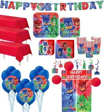 PJ Masks Tableware Ultimate Kit for 24 Guests