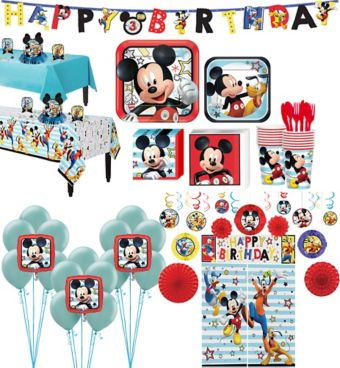 Mickey Mouse Tableware Ultimate Kit for 16 Guests