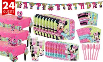 Minnie Mouse Tableware Party Kit for 24 Guests