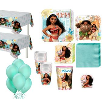 Moana Tableware Party Kit for 16 Guests