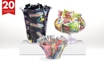 Branded Sour Candy Kit with Containers for 20 Guests