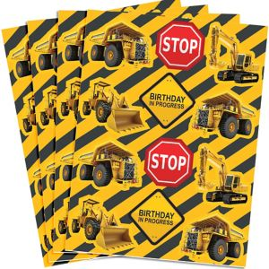Construction Zone Stickers 4 Sheets