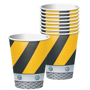 Construction Zone Cups 8ct