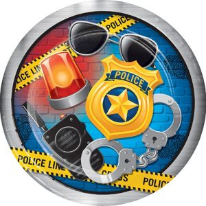 Police Lunch Plates 8ct