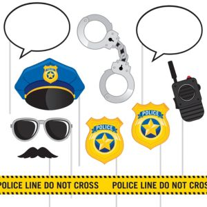 Police Photo Booth Props 10ct