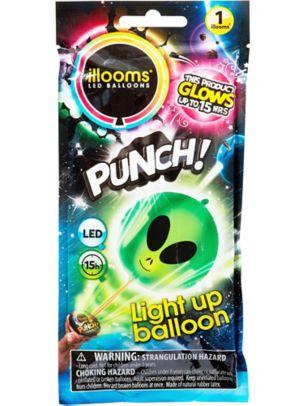 Illooms Light-Up Alien LED Punch Balloon
