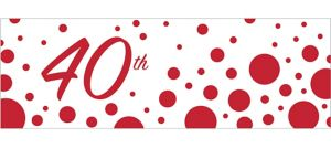 Giant Ruby Dots 40th Anniversary Banner