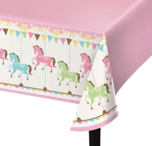 Pink Carousel Table Cover
