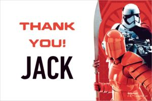 Custom Star Wars 8 Thank You Notes