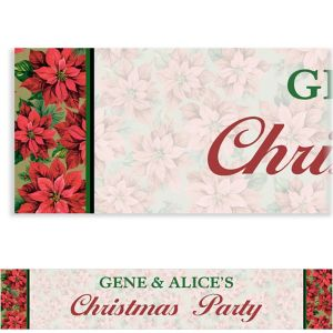 Custom Holiday Poinsettia Banner