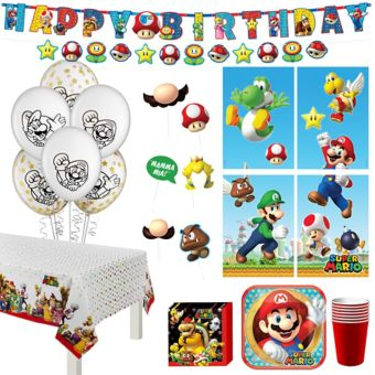 Super Mario Tableware Party Kit for 8 Guests