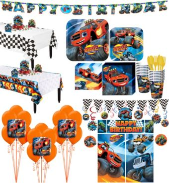 Blaze and the Monster Machines Tableware Ultimate Kit for 16 Guests