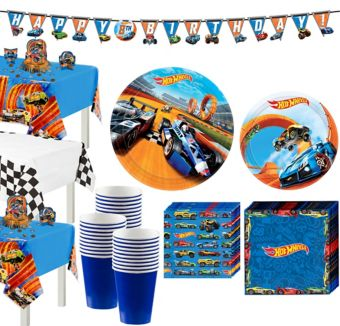 Hot Wheels Tableware Party Kit for 24 Guests