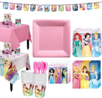 Disney Princess Tableware Party Kit for 16 Guests