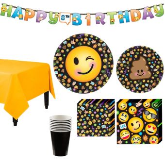 Smiley Tableware Party Kit for 8 Guests
