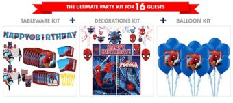 Spider-Man Homecoming Tableware Ultimate Kit for 16 Guests