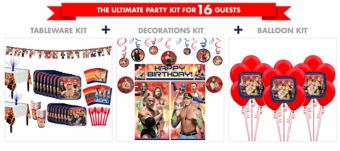 WWE Tableware Ultimate Kit for 16 Guests