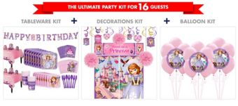 Sofia the First Tableware Ultimate Kit for 16 Guests