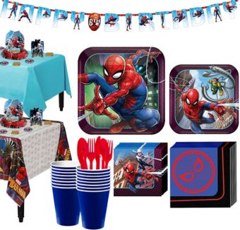 Ultimate Spider-Man Tableware Party Kit for 16 Guests
