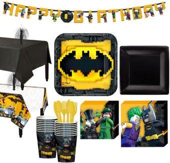 Lego Batman Movie Tableware Party Kit for 16 Guests