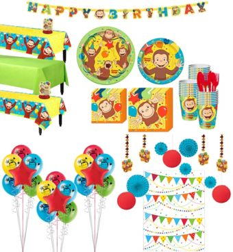 Curious George Tableware Ultimate Kit for 24 Guests