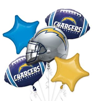 Los Angeles Chargers Balloon Bouquet 5pc