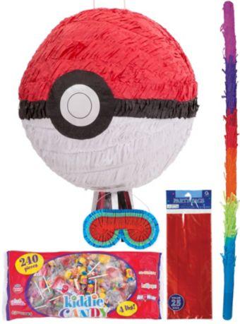 Pokeball Pinata Kit with Favor Bags - Pokemon