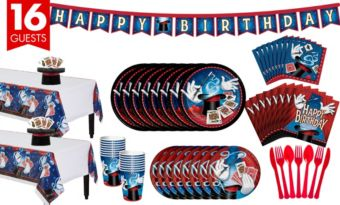 Magic Party Tableware Party Kit for 16 Guests
