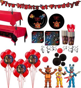 Five Nights at Freddy's Tableware Ultimate Kit for 16 Guests