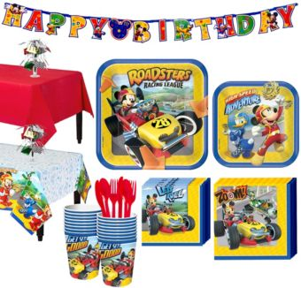 Mickey Mouse Roadster Tableware Party Kit for 16 Guests