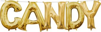 Air-Filled Gold Candy Letter Balloon Kit