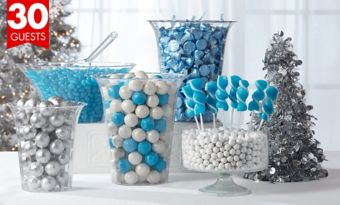 Winter Wonderland Candy Kit with Containers for 30 guests